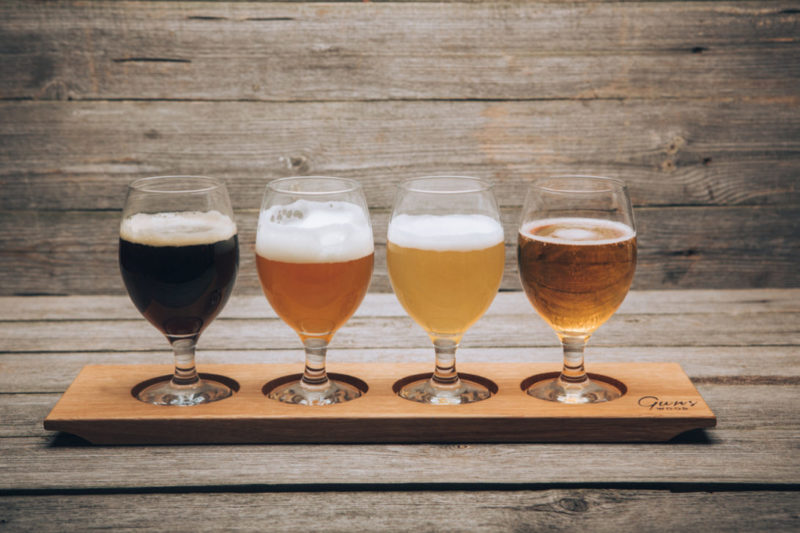 доски для пивного сэта, gunswood, крафтовое пиво, Beer Flight, дегустация пива, пабы